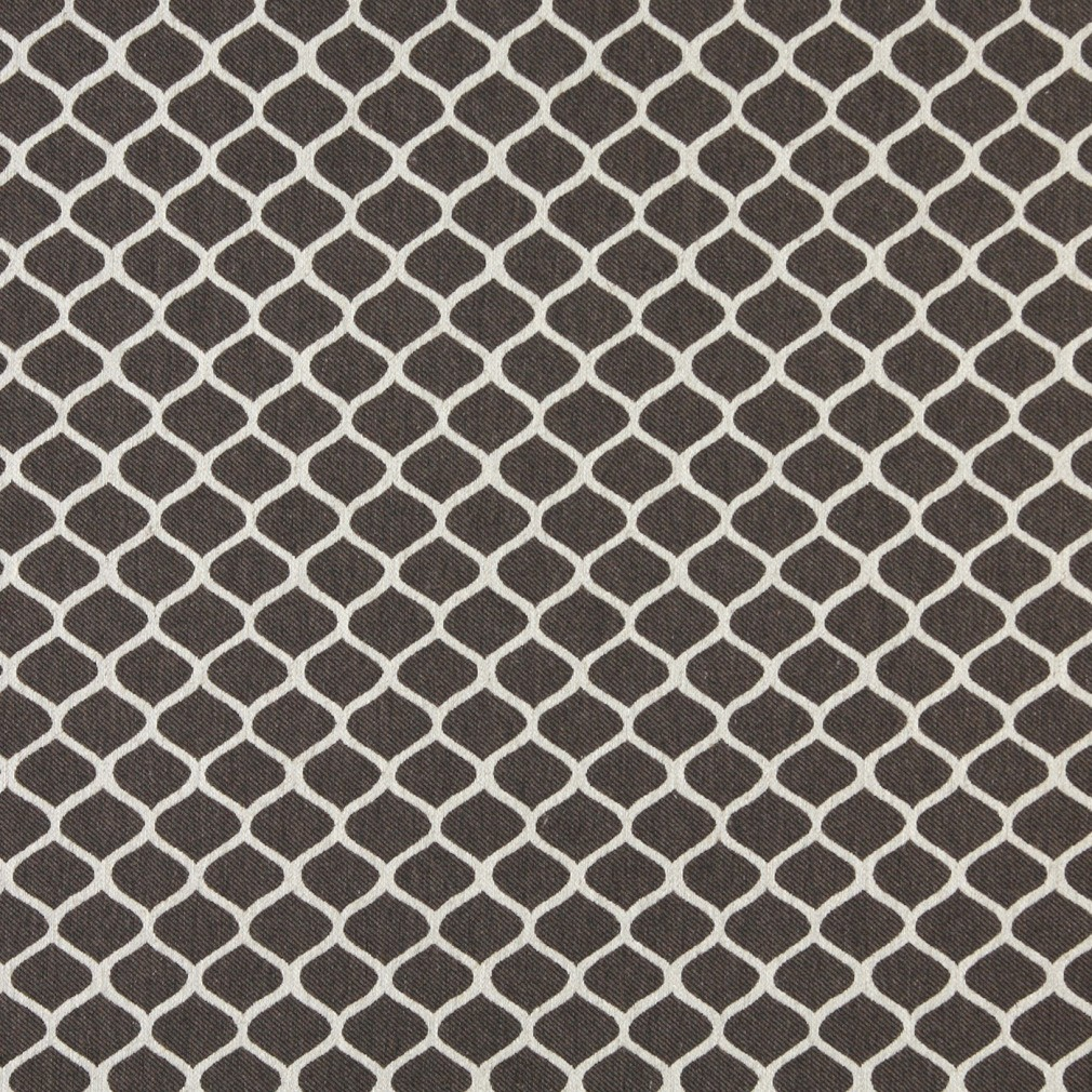 A0008D Taupe And Off White, Modern, Geometric Upholstery Fabric By The Yard 1