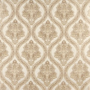 Ivory Traditional Brocade Upholstery Fabric By The Yard