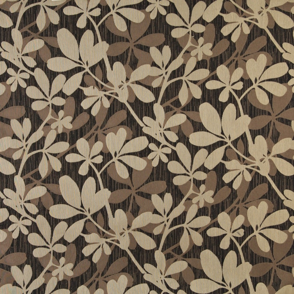 Brown beige and midnight abstract leaves upholstery for Upholstery fabric
