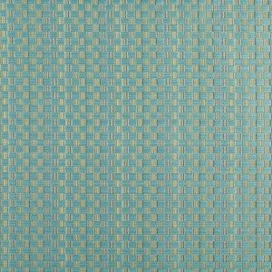 Turquoise And Green Checkered Upholstery Jacquard Fabric By The Yard