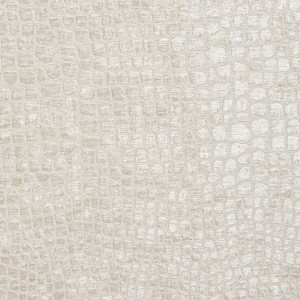 Off White Textured Alligator Shiny Woven Velvet Upholstery Fabric By The Yard