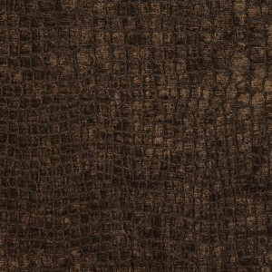 A0151F Brown Textured Alligator Shiny Woven Velvet Upholstery Fabric By The Yard