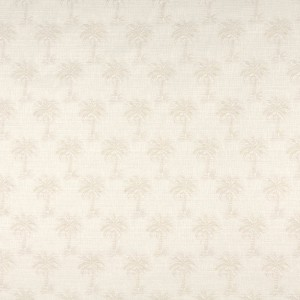 Beige Tropical Textured Palm Trees Upholstery Fabric By The Yard