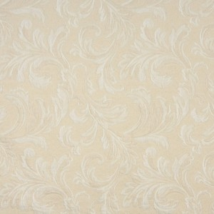 A104 Off White Large Leaves Upholstery Fabric By The Yard