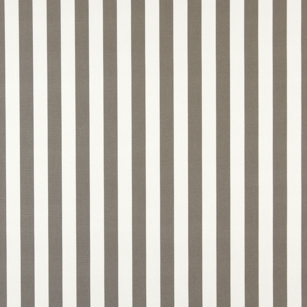 Grey, Striped Solution Dyed Acrylic Outdoor Fabric By The Yard 1