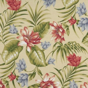 Green, Pink, Blue And Yellow, Floral Outdoor Upholstery Fabric By The Yard