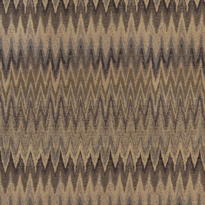 Blue, Beige And Gold, Woven Flame Stitch Upholstery Fabric By The Yard
