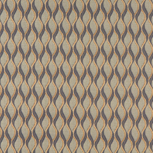 C555 Blue And Gold, Wavy Striped, Contract Grade Upholstery Fabric By The Yard