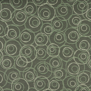 Dark Green, Green And White, Circles Contract Upholstery Fabric By The Yard