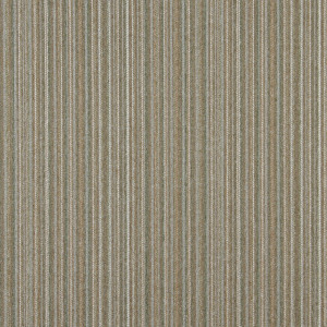 Light Brown, Green And Ivory Striped Country Upholstery Fabric By The Yard