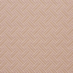 Gold And Pink, Lattice Brocade Upholstery Fabric By The Yard