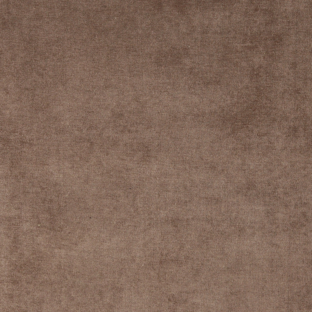 Taupe Brown, Solid Woven Velvet Upholstery Fabric By The Yard 1