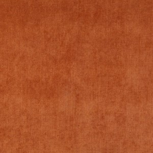 Copper Red, Solid Woven Velvet Upholstery Fabric By The Yard