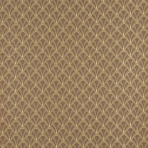 Brown And Beige Fan Jacquard Woven Upholstery Fabric By The Yard