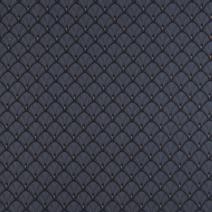Navy Blue And Gold Fan Jacquard Woven Upholstery Fabric By The Yard