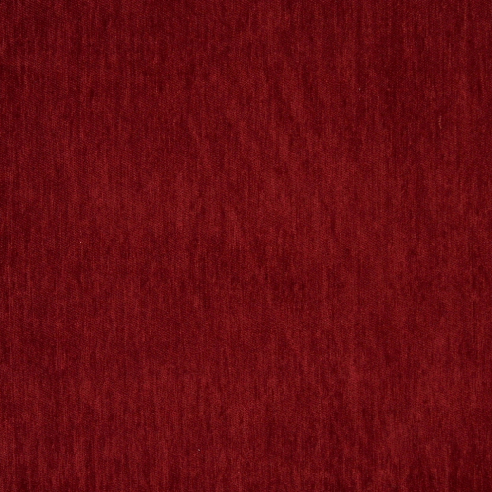 Dark Red Solid Soft Chenille Upholstery Fabric By The Yard 1