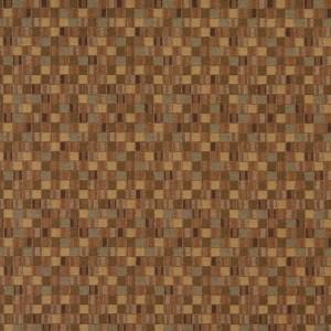 Gold And Green Geometric Boxes Contract Upholstery Fabric By The Yard