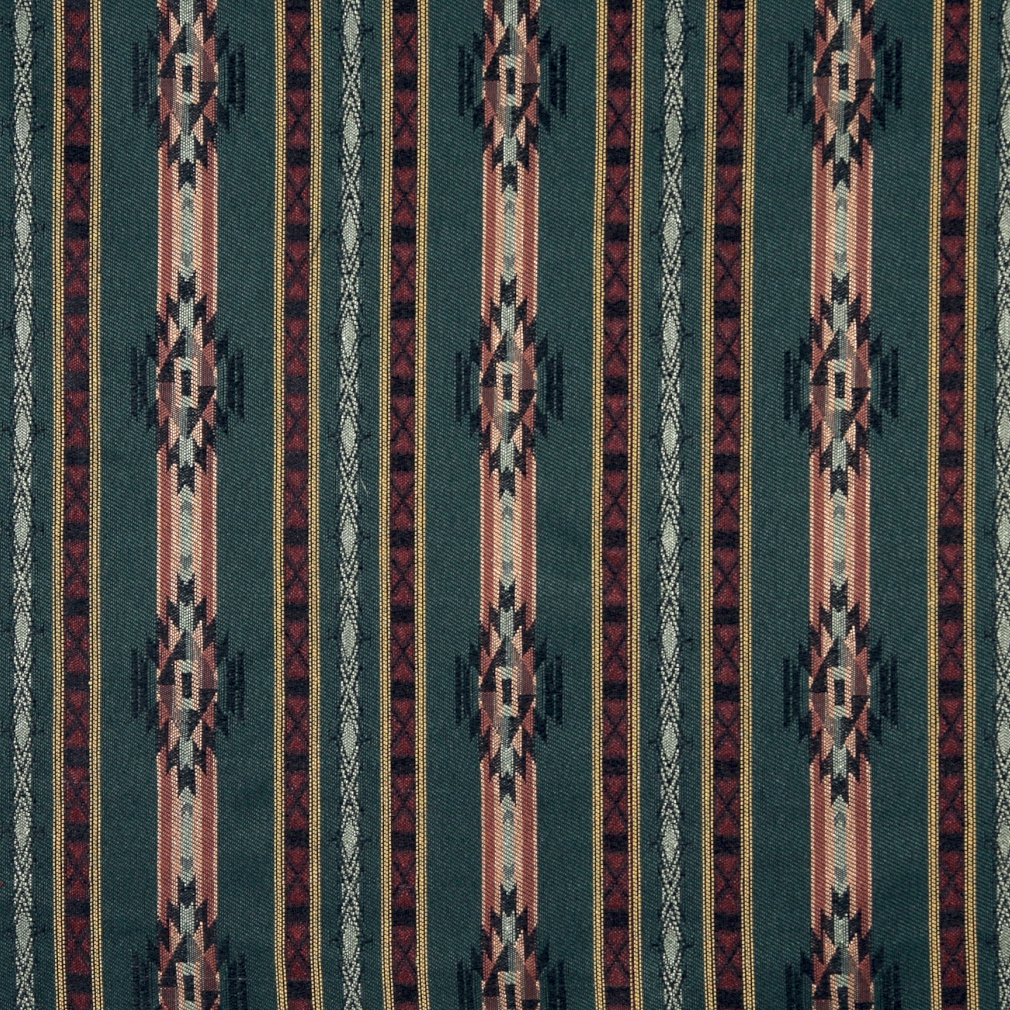 F380 Striped Southwestern Navajo Lodge Style Upholstery Grade Fabric By The Yard 1