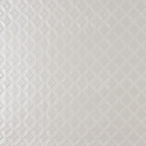 G349 Silver, Shiny Metallic Diamonds Upholstery Faux Leather By The Yard