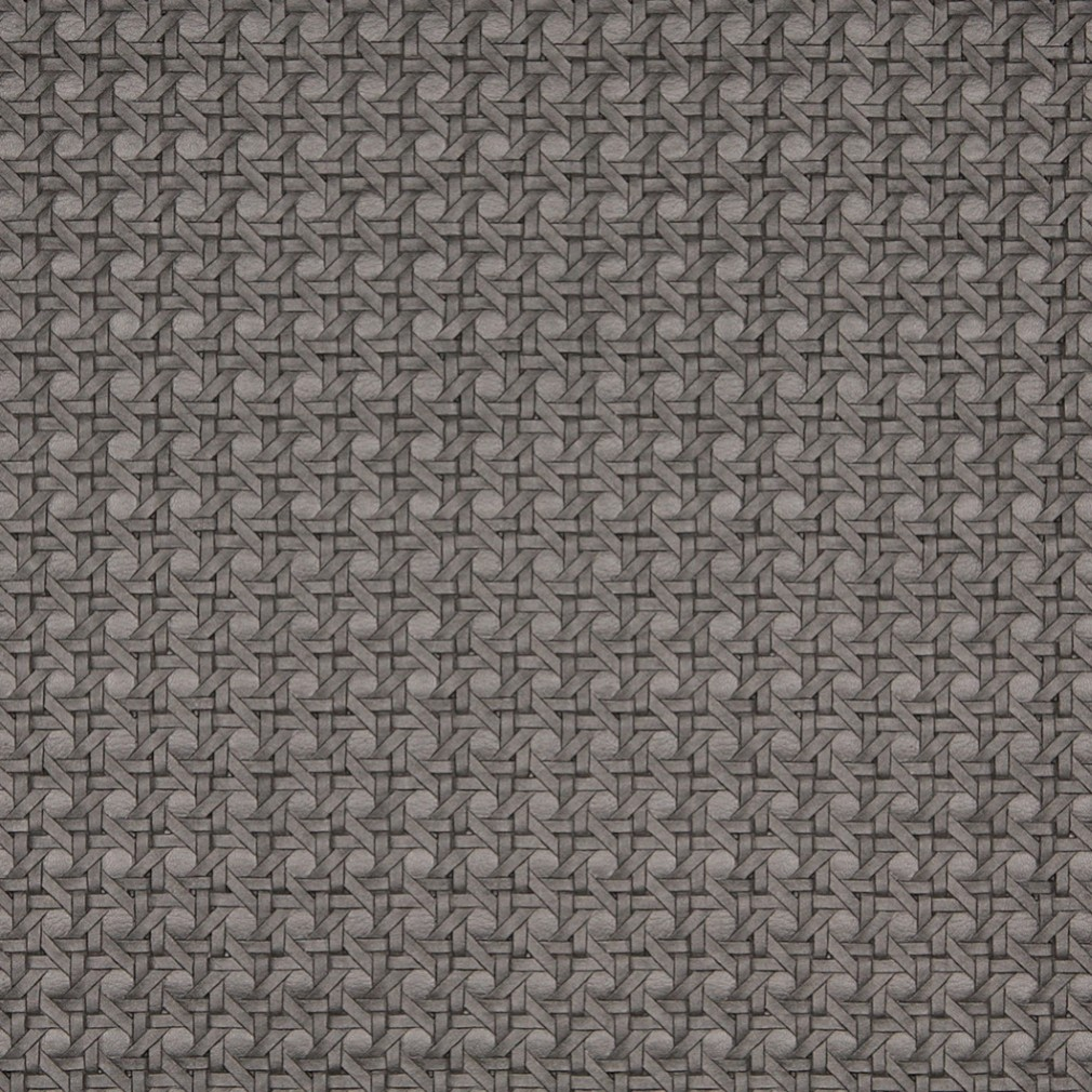 G675 Silver, Metallic Cross Hatch Upholstery Faux Leather By The Yard 1