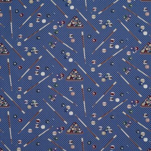 Billiards Woven Decorative Novelty Upholstery Fabric By The Yard