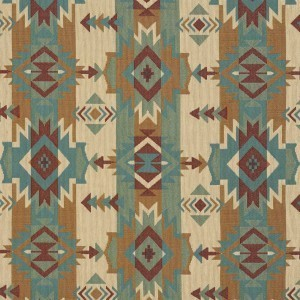 Striped Geometric Southwest Woven Novelty Upholstery Fabric By The Yard