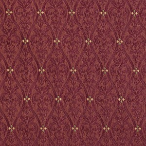 Burgundy Waves Lines And Foliage Upholstery Fabric By The Yard