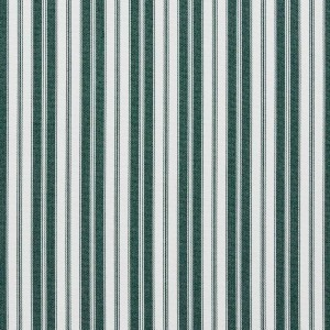 Green, Ticking Striped Indoor Outdoor Acrylic Upholstery Fabric By The Yard