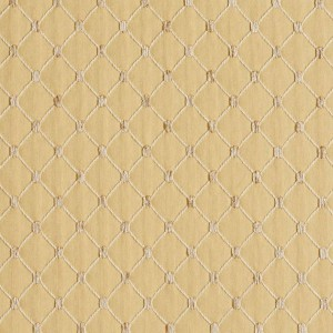 Gold, Diamond Jacquard Woven Upholstery Fabric By The Yard