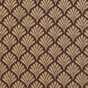 Brown, Fan Jacquard Woven Upholstery Fabric By The Yard