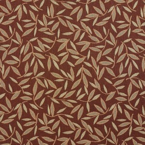 Nutmeg Floral Leaf Contract Grade Upholstery Fabric By The Yard