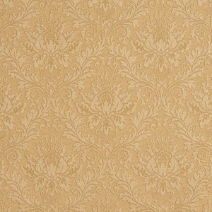E541 Gold, Floral Jacquard Woven Upholstery Grade Fabric By The Yard