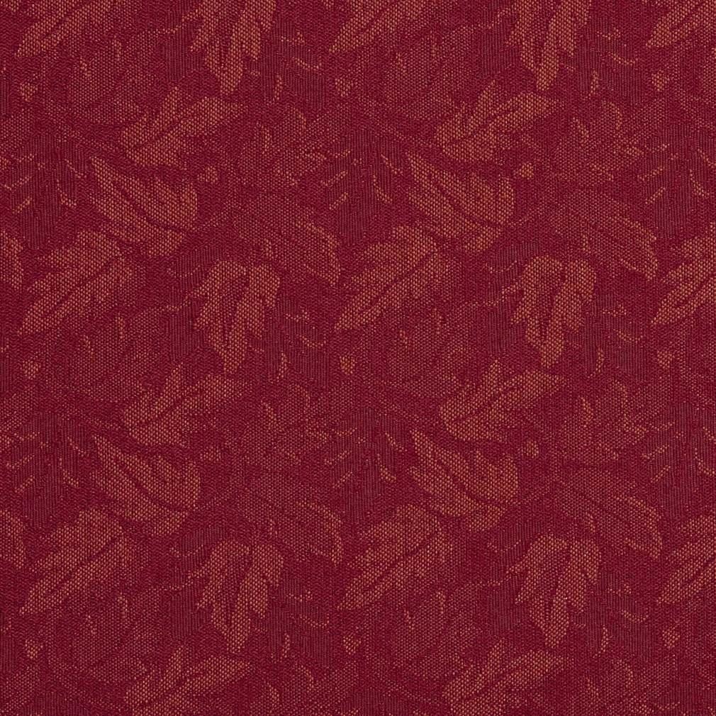 Burgundy Red Leaves Crypton Contract Grade Upholstery Fabric By The Yard 1
