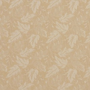 Beige Leaves Crypton Contract Grade Upholstery Fabric By The Yard