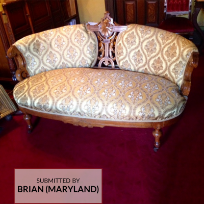 A0016H Brocade Upholstery on Loveseat