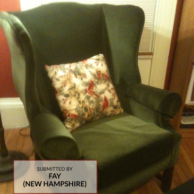 A0000G Cotton Velvet Upholstery Fabric on Chair