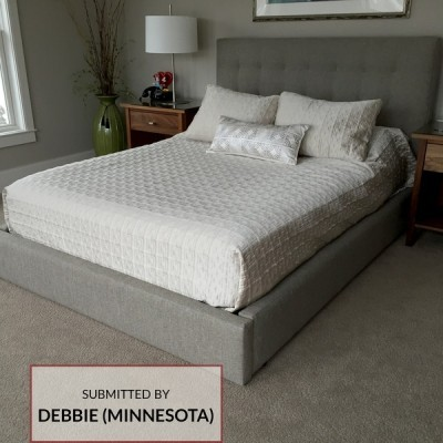 D529 Upholstered Headboard and Bed