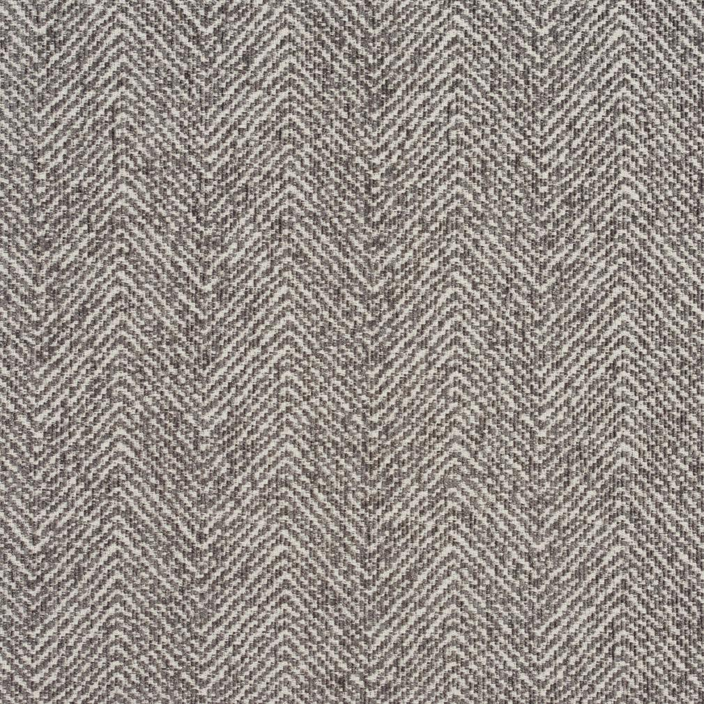E736 Grey Herringbone Woven Textured Upholstery Fabric