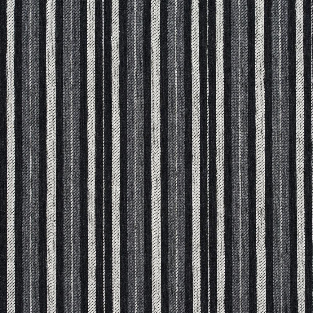 White Striped Jacquard Upholstery Fabric