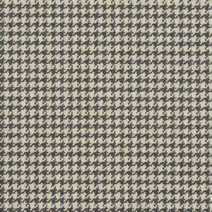 E850 Grey And Off White Classic Houndstooth Jacquard Upholstery Fabric By The Yard