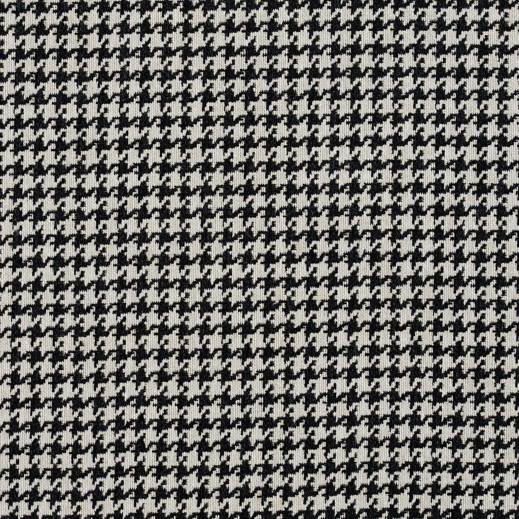 E854 Black And Off White Classic Houndstooth Jacquard