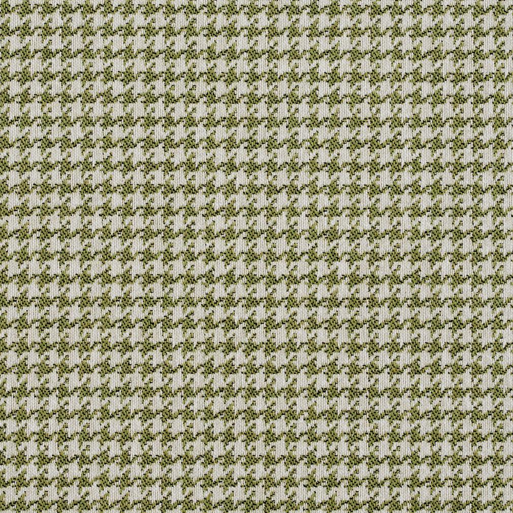 E858 Light Green And Off White Classic Houndstooth Jacquard