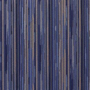 E226 Navy Blue And Gold Abstract Striped Contract Upholstery Fabric