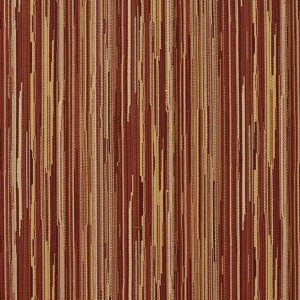 E235 Orange Brown And Ivory Abstract Striped Contract Upholstery Fabric