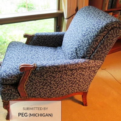 E204 Stain Resistant Leaf Upholstered Chair
