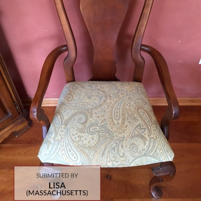 F325 Upholstered Paisley Jacquard Dining Room Chair