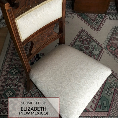 E564 Diamond Jacquard Upholstered Chair