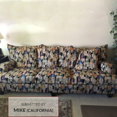 A009 Wine Bottles Upholstered Sofa